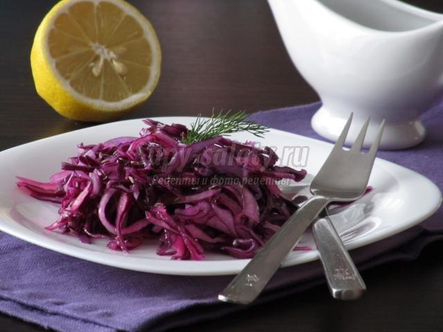 острый салат из краснокочанной капусты