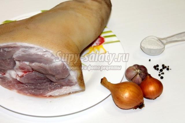 Холодец из свиных ножек и рульки рецепт пошагово