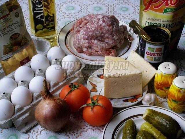 бризоль или мясные рулеты с начинкой