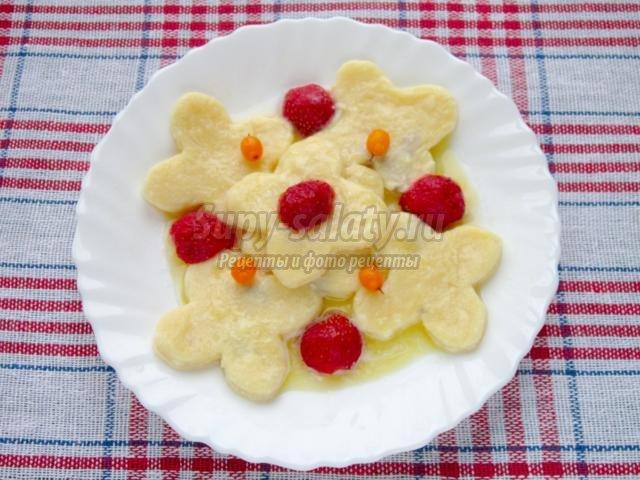 ленивые вареники из творога с ягодами