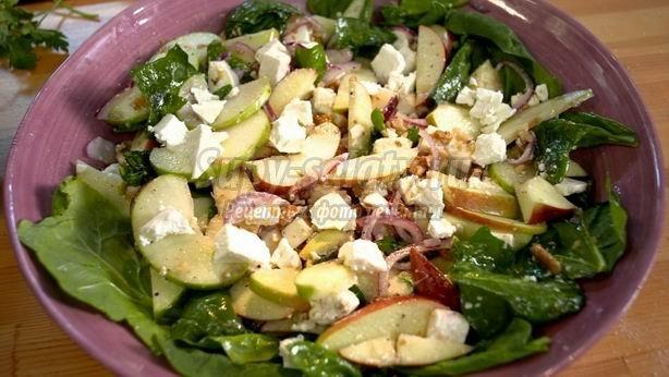 Салаты из свежих яблок: лучшие рецепты