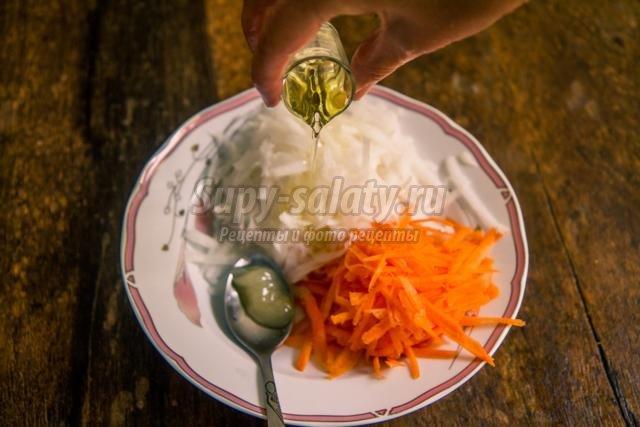 салат с дайконом и морковью. Здоровье
