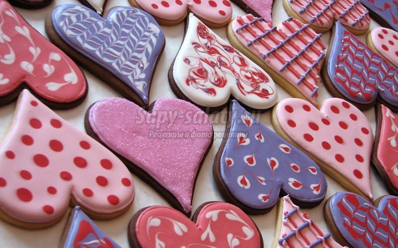 печенье на 14 февраля