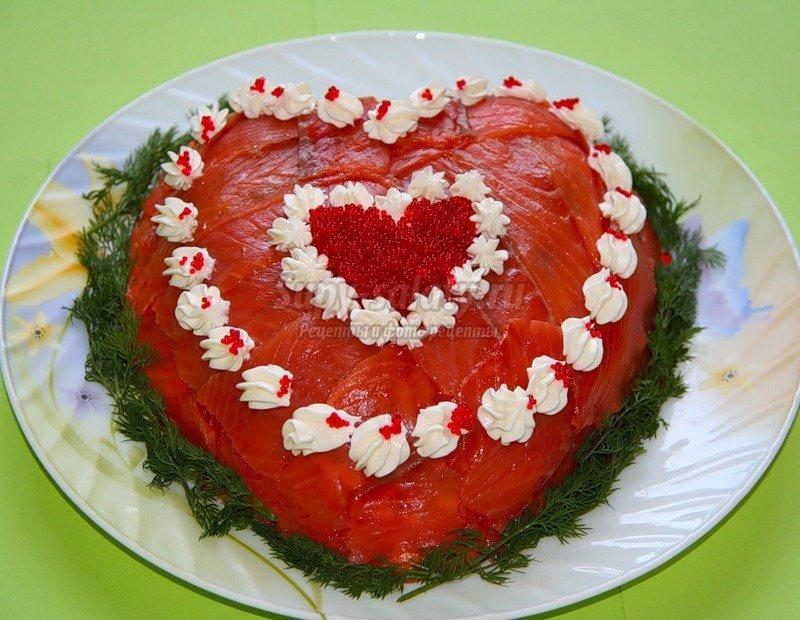 салат - сердце
