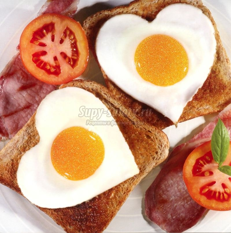яичница-сердце