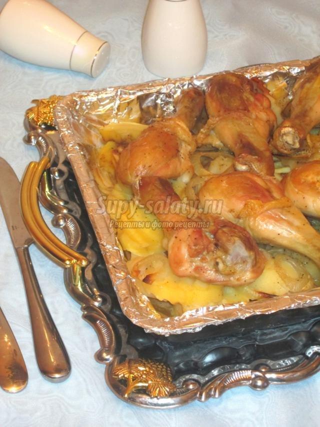 Как вкусно запечь голень курицы в духовке с