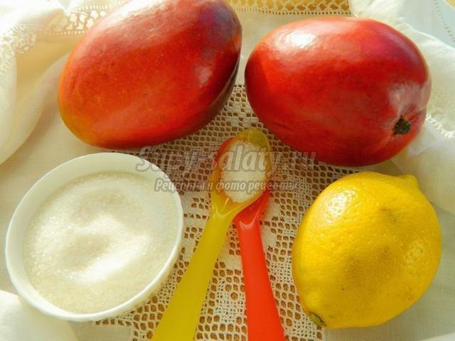 быстрое варенье из манго и лимона