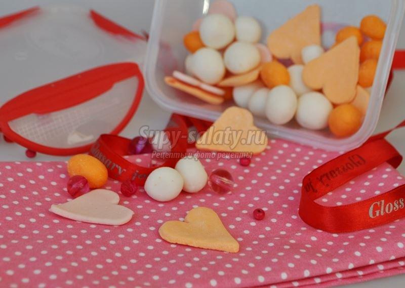 печенье валентинка