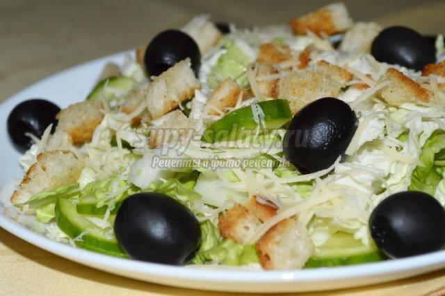 Салат из оливок
