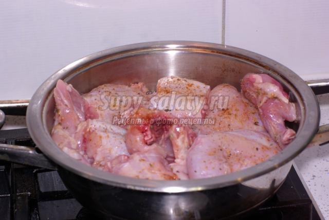 Тушеный кролик пошаговый рецепт