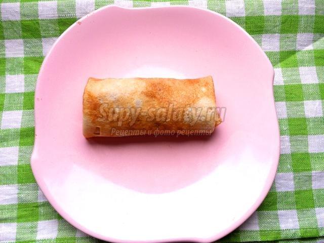 Блины с вареньем рецепт с пошагово