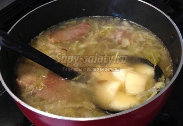 щи из квашеной капусты со свининой рецепт