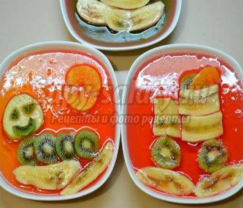 Желе с фруктами. Весёлые картинки. Рецепт с пошаговыми фото