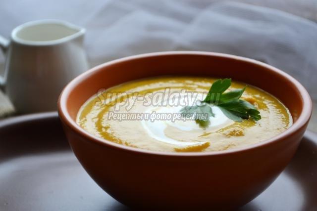 крем-суп из тыквы и кабачка