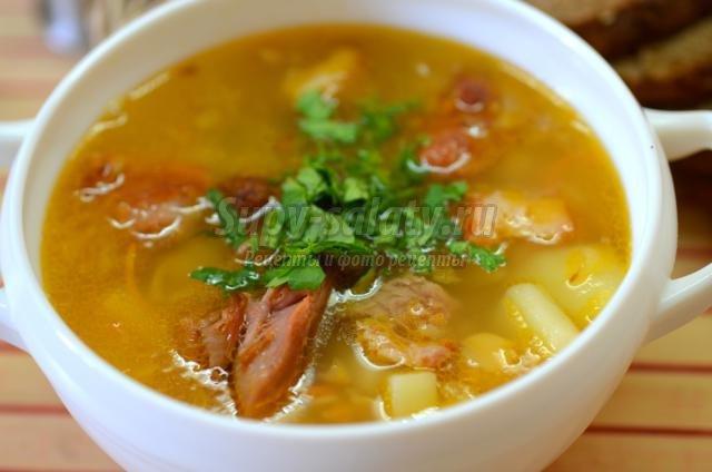 сварить гороховый суп в мультиварке с курицей рецепты