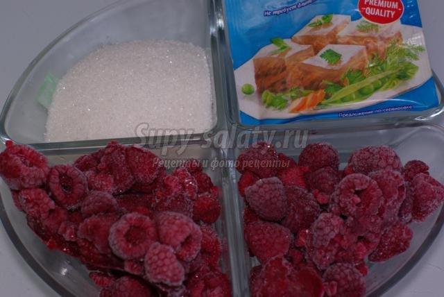 Рецепты из замороженной малины фото