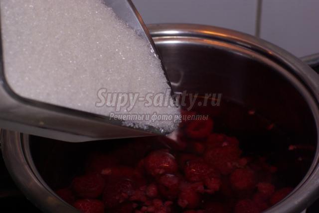 желе из замороженной малины рецепт с фото