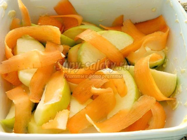 печеные яблоки с морковью