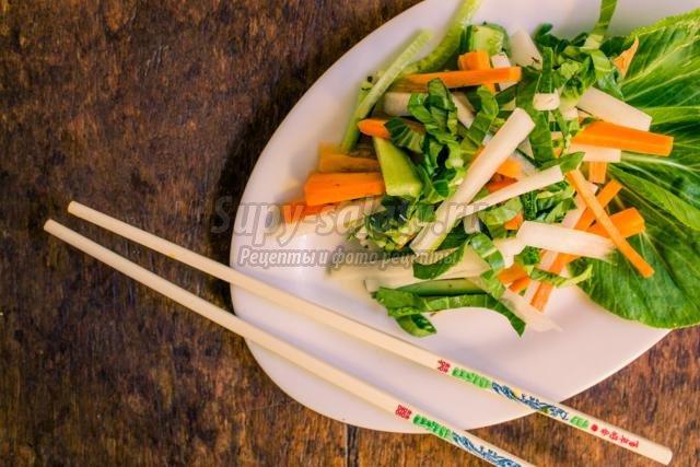 диетический салат с китайской капустой. Пекинский