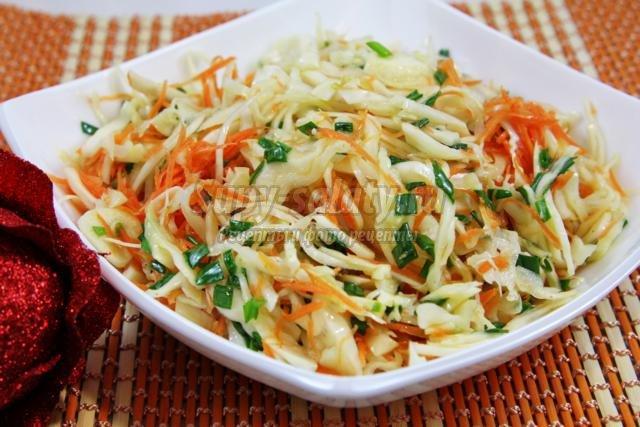 постный салат по-корейски в горячей заливке