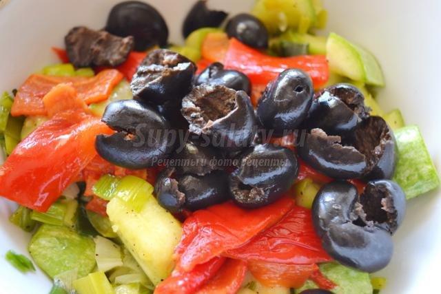 седло барашка с овощами