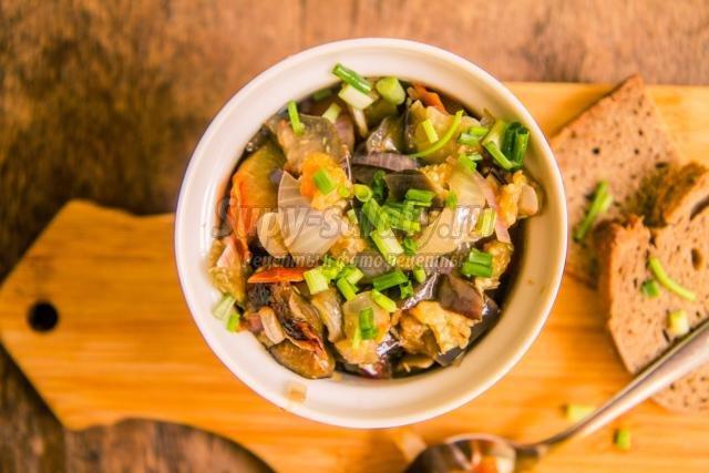 Тушеные баклажаны с овощами пошаговый рецепт с фото