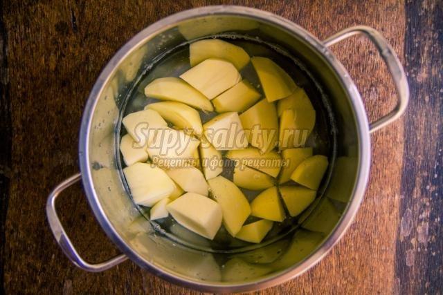картошка с кальмарами