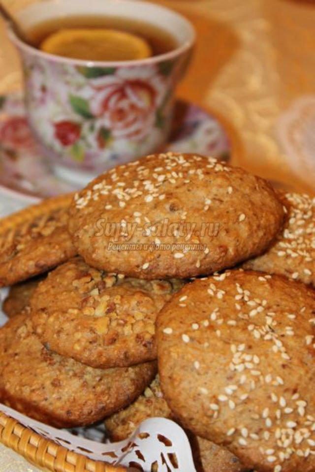 Пошаговый рецепт с фото овсяного печенья