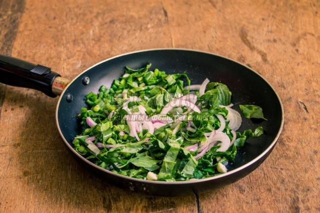 картофельный гарнир со свежей зеленью