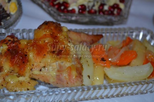куриные крылышки в медово-апельсиновом соусе