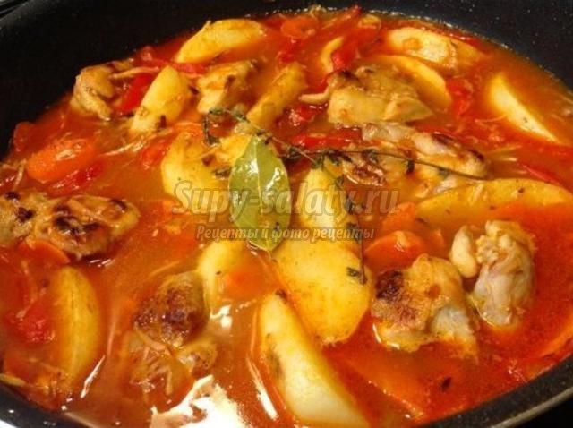 Жаркое из курицы с картошкой рецепт с фото в мультиварке панасоник