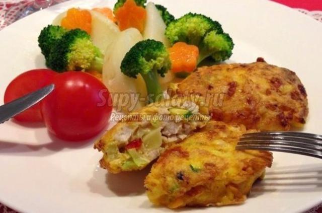 котлеты из овощей и куриного фарша