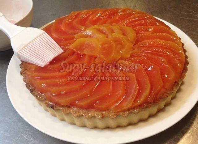 французский пирог с папайей и ванильным кремом