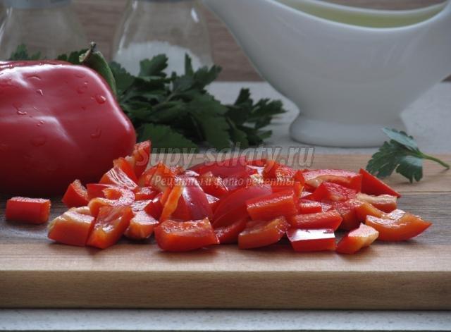 болгарский перец фасоль салаты рецепты