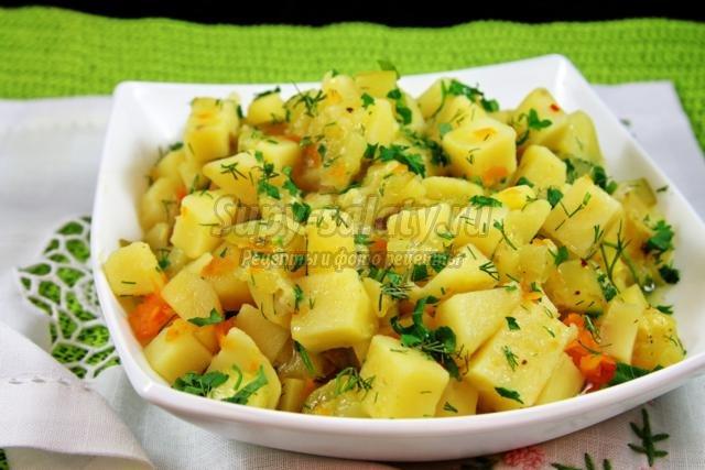 диетическое овощное рагу с кабачками