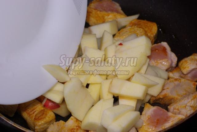 диетическая отварная индейка под сладким соусом