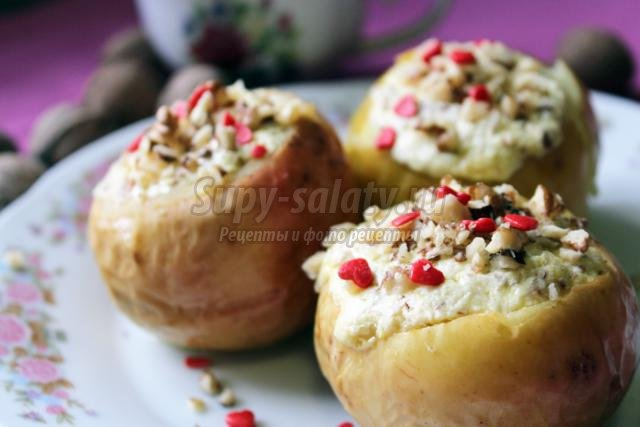Печёные яблоки рецепт с фото