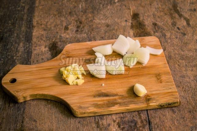 постный суп-пюре из цветной капусты