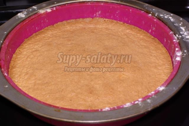 Бисквитный торт пошаговые