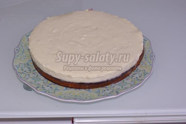 бисквитный торт. Пасхальное гнездо
