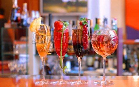 Лучшие коктейли с шампанским
