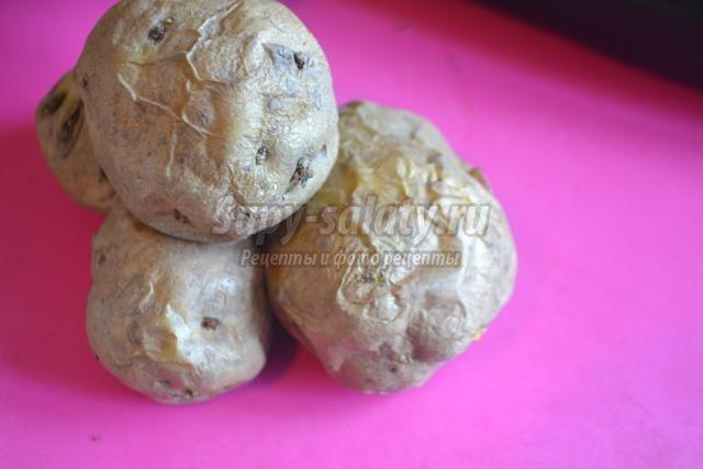 огуречные роллы с печёным картофелем