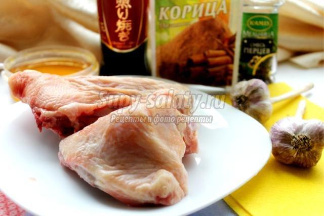 запеченные куриные бедра в медовом маринаде
