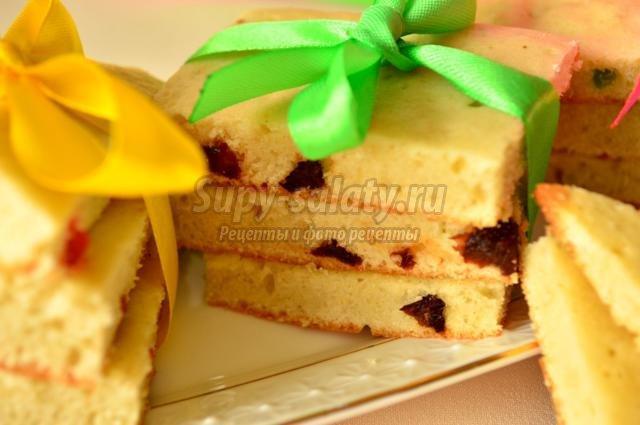 пасхальное печенье с изюмом и цукатами