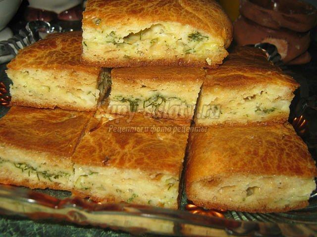 Пирог с мясом на кефире и майонезе рецепт