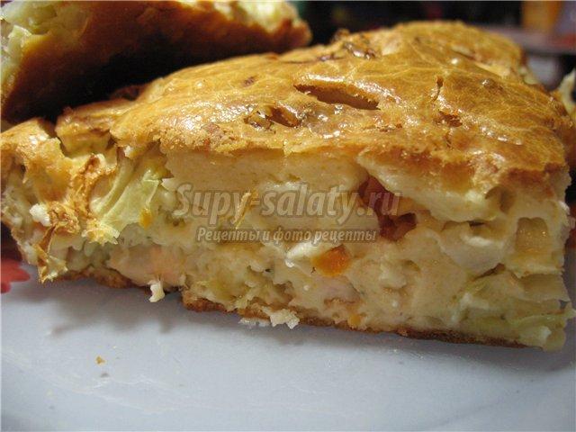 Пирог с капустой. Популярные рецепты