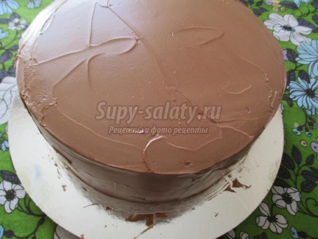 Шоколадный торт с мастикой рецепт с фото