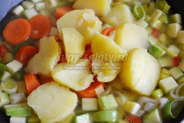 крем-суп из авокадо и кабачка