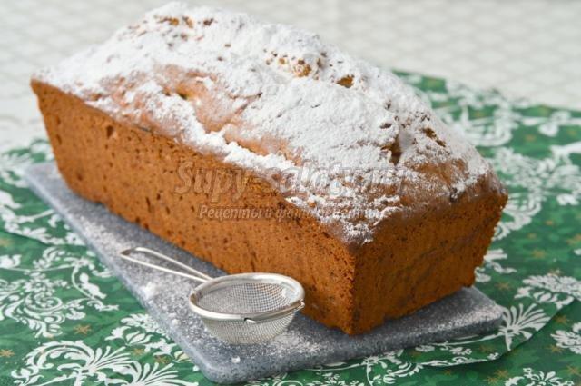 ореховый кекс с вареньем из апельсиновых корочек