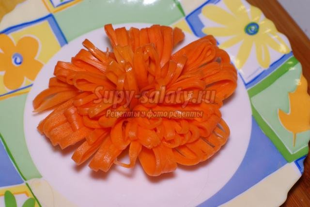 карвинг. Папильотка из моркови